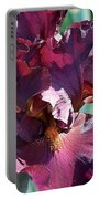 Red Bearded Iris Photograph Portable Battery Charger