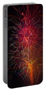 Red Blazing Fireworks Portable Battery Charger