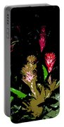 Red Blooms Portable Battery Charger