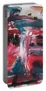 Red Blue Black Abstract Portable Battery Charger