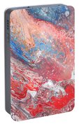 Red Blue White Abstract Portable Battery Charger