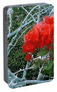 Red Bougainvillea Thorns Portable Battery Charger