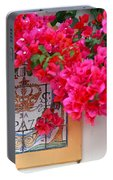 Red Bougainvilleas Portable Battery Charger