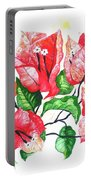 Red Bouganvillia Portable Battery Charger
