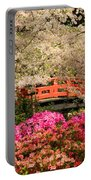 Red Bridge And Blossoms Portable Battery Charger