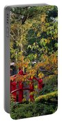 Red Bridge & Japanese Lantern, Autumn Portable Battery Charger