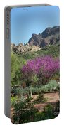 Red Bud Tree On Path Portable Battery Charger