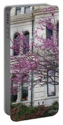 Red Buds And San Antonio City Hall Portable Battery Charger
