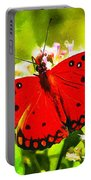 Red Butterfly Portable Battery Charger