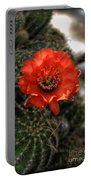 Red Cactus Flower  Portable Battery Charger
