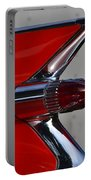 Red Cadillac Fin Portable Battery Charger