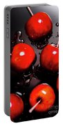 Red Candy Apples Or Apple Taffy Portable Battery Charger