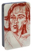 Red Charcoal Sketch 6481 Portable Battery Charger