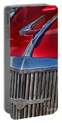 Red Chevrolet Grill And Hood Ornament Portable Battery Charger