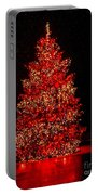 Red Christmas Tree Portable Battery Charger