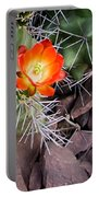Red Claretcup Cactus Portable Battery Charger