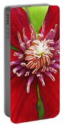 Red Clematis Portable Battery Charger