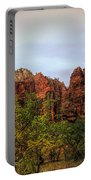 Red Cliffs Mountains Zion National Park Utah Usa Portable Battery Charger
