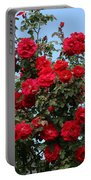 Red Climbing Roses Portable Battery Charger