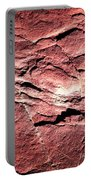 Red Colored Limestone With Grooves Portable Battery Charger