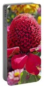 Red Cone Flower Portable Battery Charger