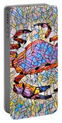 Red Crab Stained Glass Portable Battery Charger