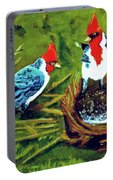Red-crested Cardinal Birds #77 Portable Battery Charger