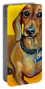 Red Dachshund - Tigger Smiles Portable Battery Charger