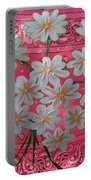 Red Daisies Portable Battery Charger