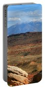 Red Desert With La Sal Mountains Portable Battery Charger