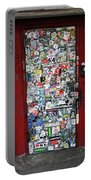 Red Doorway With Stickers Portable Battery Charger