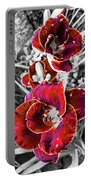 Red Double Lily Portable Battery Charger