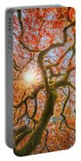 Red Dragon Japanese Maple In Autumn Colors Portable Battery Charger