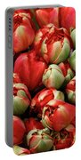 Red Elegant Blooming Tulips  Portable Battery Charger