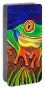 Red-eyed Tree Frog And Starry Night Portable Battery Charger