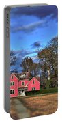 Red Farm House Portable Battery Charger