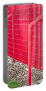 Red Fence Portable Battery Charger