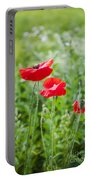 Red Field Poppies Portable Battery Charger