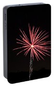 Red Fireworks Portable Battery Charger