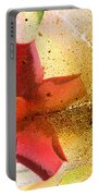 Red Floral Grunge Portable Battery Charger
