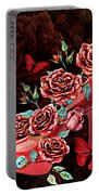 Red Floral Heels Portable Battery Charger