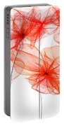 Red Floral - Red Modern Art II Portable Battery Charger