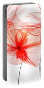 Red Floral - Red Modern Art Portable Battery Charger