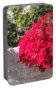 Red Flower Bushes Portable Battery Charger