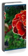 Red Flower In Autumn Portable Battery Charger