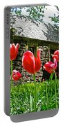 Red Flowers In Central Park Portable Battery Charger