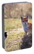 Red Fox And Magpie Portable Battery Charger