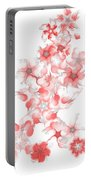 Red Fractal Floral Pattern Portable Battery Charger