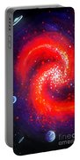 Red Galaxy Portable Battery Charger