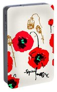 Red Garden Glow Portable Battery Charger